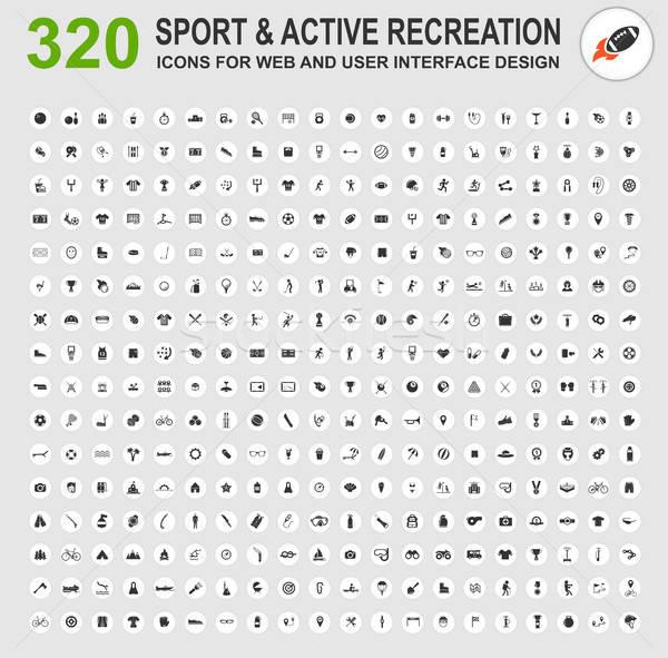 Stock fotó: Sportok · ikon · gyűjtemény · sport · aktív · kikapcsolódás · ikonok