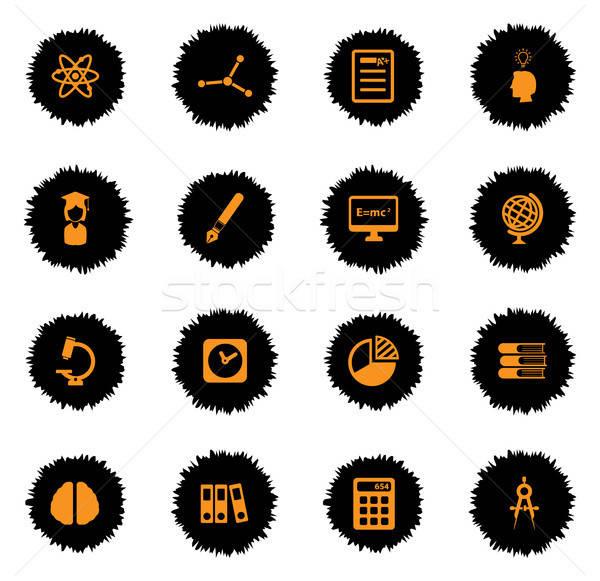 University simply icons Stock photo © ayaxmr