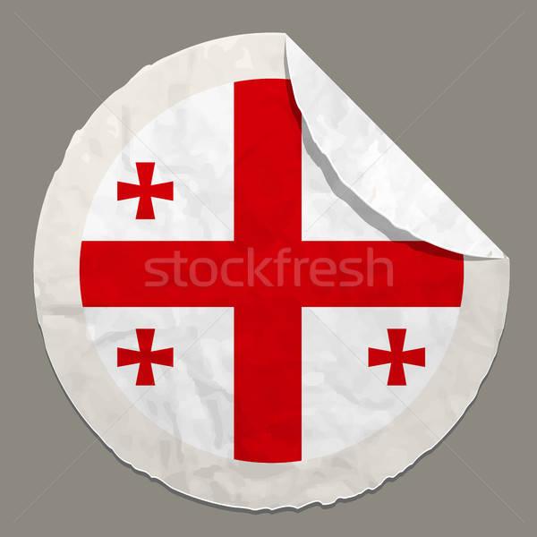 Bayrak kâğıt etiket simge ülke Stok fotoğraf © ayaxmr