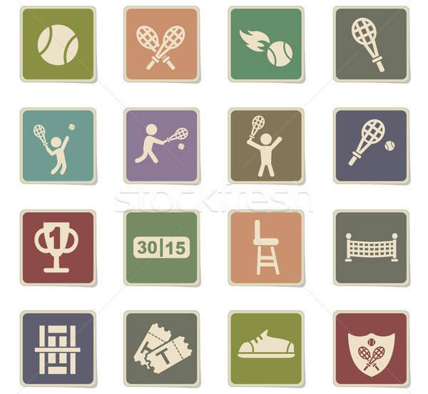 tennis icon set Stock photo © ayaxmr