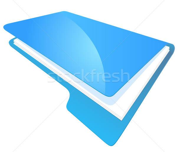 File Folder Icon for Storage of Documents Stock photo © ayaxmr