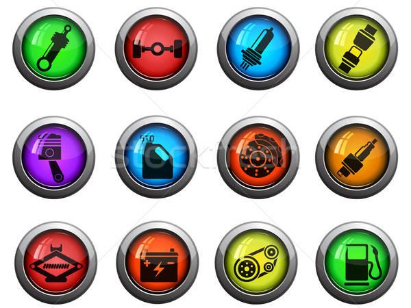 Auto servizio lucido icone sito web Foto d'archivio © ayaxmr