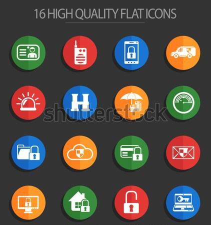 Electricity icons set Stock photo © ayaxmr