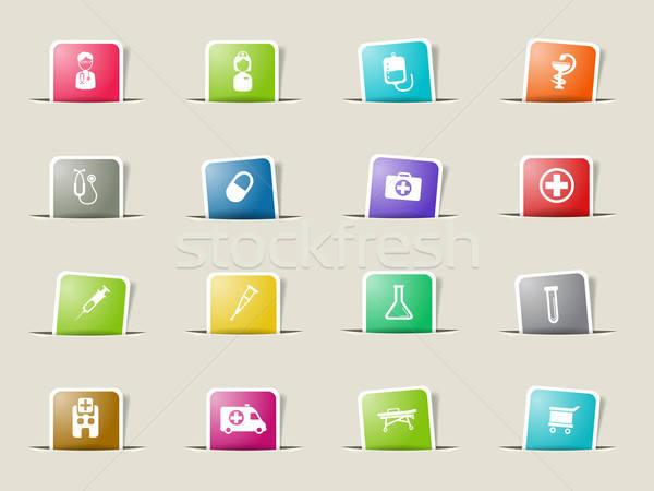 Medical simply icons Stock photo © ayaxmr