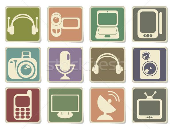 Médias vecteur icônes web utilisateur Photo stock © ayaxmr