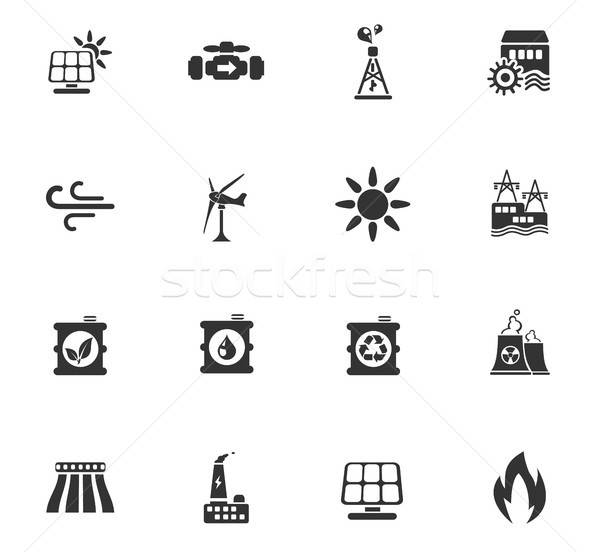 Power generation industry icons Stock photo © ayaxmr