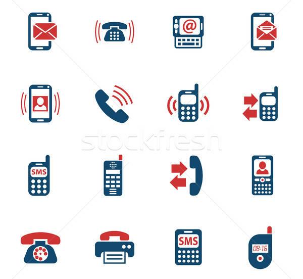 Teléfono iconos de la web usuario interfaz diseno Foto stock © ayaxmr