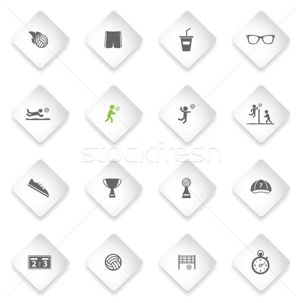 Siatkówka po prostu ikona internetowych użytkownik interfejs Zdjęcia stock © ayaxmr