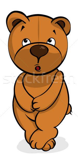 self-conscious plush bear Stock photo © ayaxmr