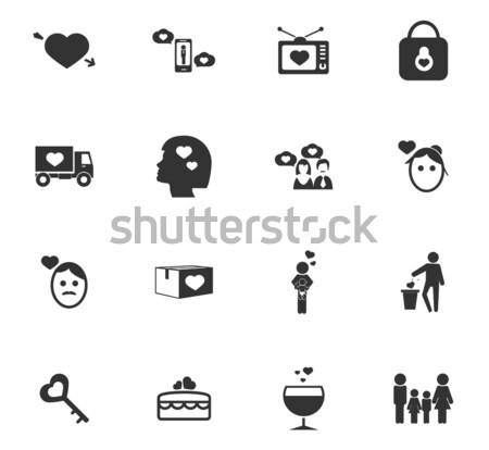 Stockfoto: Valentijn · dag · valentijnsdag · eenvoudig · iconen