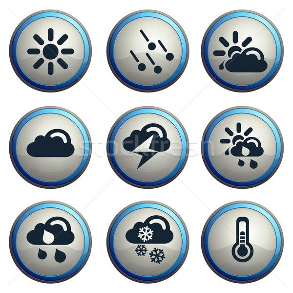 Weather simple vector icons Stock photo © ayaxmr