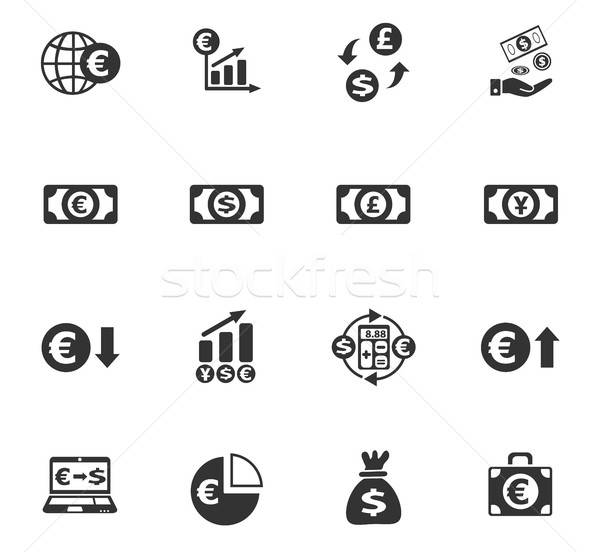 Valuta uitwisseling web icons gebruiker interface Stockfoto © ayaxmr