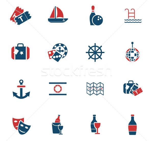 cruise icon set Stock photo © ayaxmr