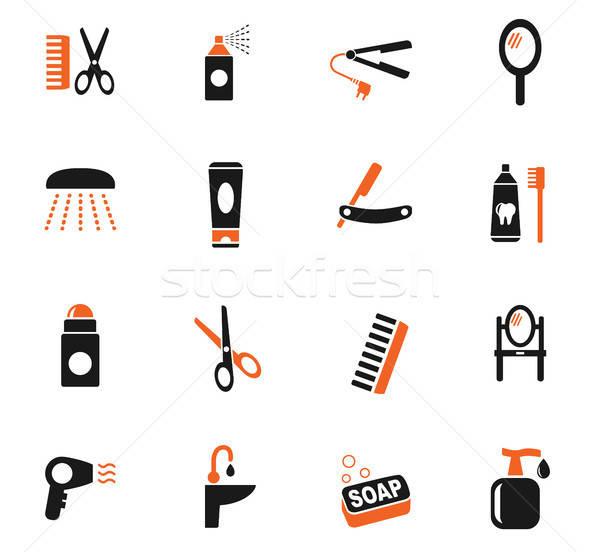 Pessoal cuidar os ícones do web usuário interface Foto stock © ayaxmr