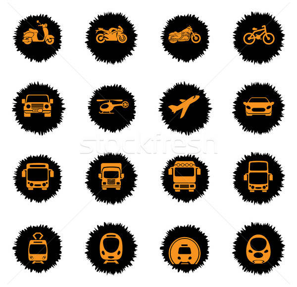 Transport mode icons Stock photo © ayaxmr