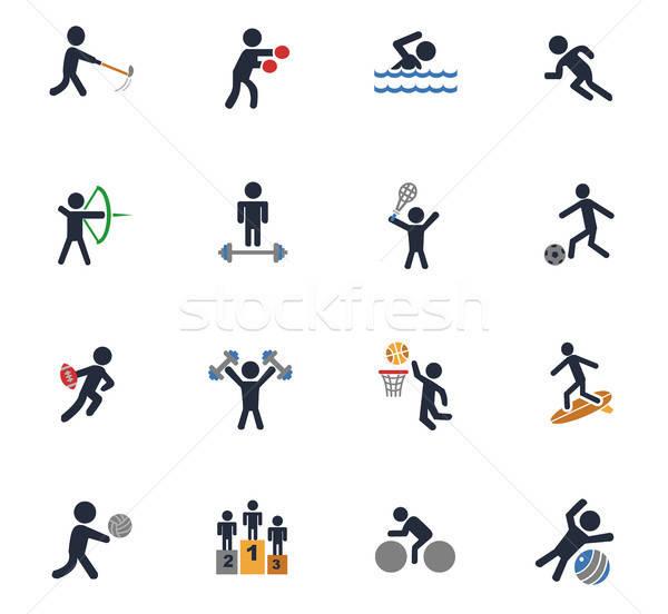 Sport ikon gyűjtemény webes ikonok felhasználó interfész terv Stock fotó © ayaxmr