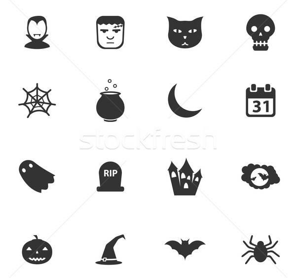 Halloween po prostu ikona symbol web ikony użytkownik Zdjęcia stock © ayaxmr