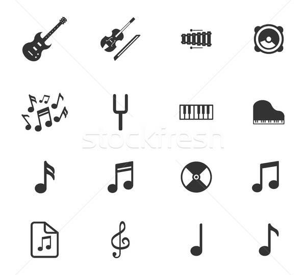 Música simplesmente ícones símbolos teia usuário Foto stock © ayaxmr