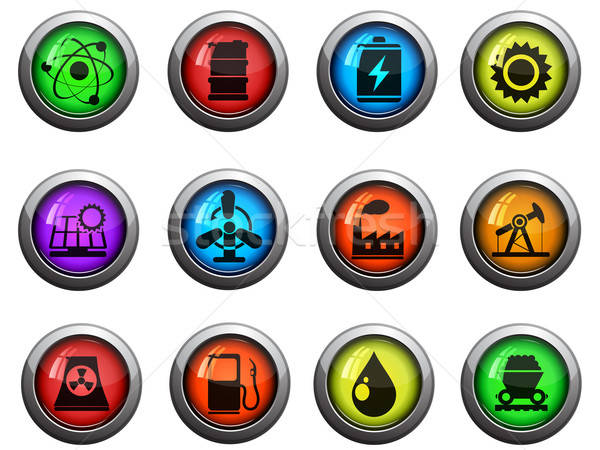Energy and Industry icons set Stock photo © ayaxmr