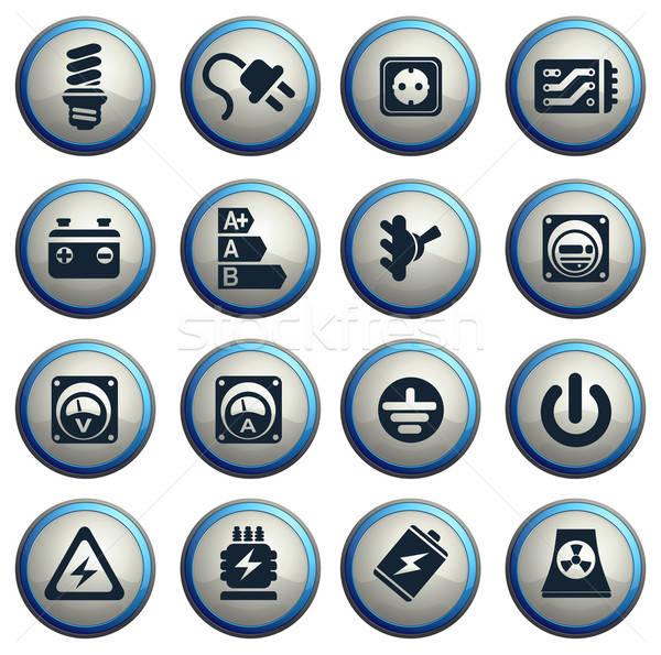 электроэнергии веб пользователь интерфейс кабеля Сток-фото © ayaxmr