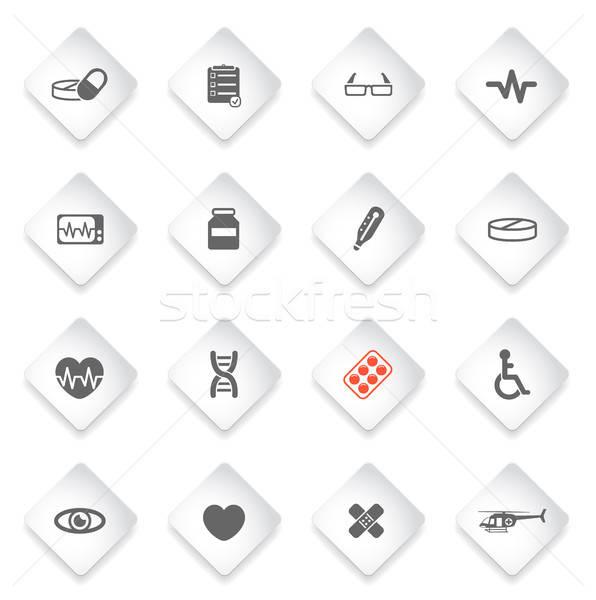 медицинской просто иконки символ веб-иконы пользователь Сток-фото © ayaxmr