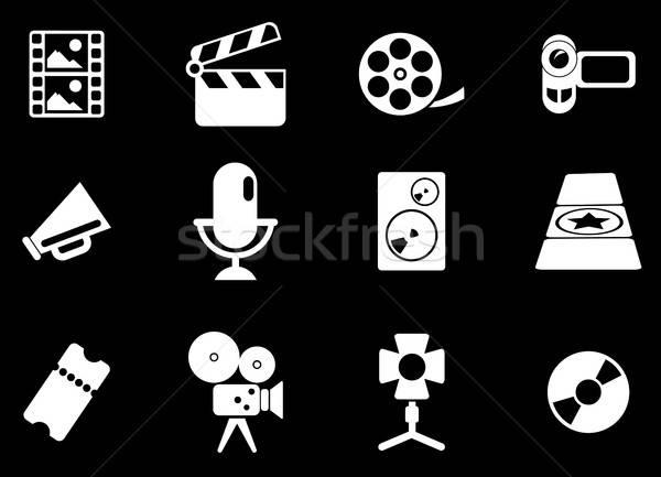 Filmipar ikonok egyszerűen szimbólumok háló felhasználó Stock fotó © ayaxmr