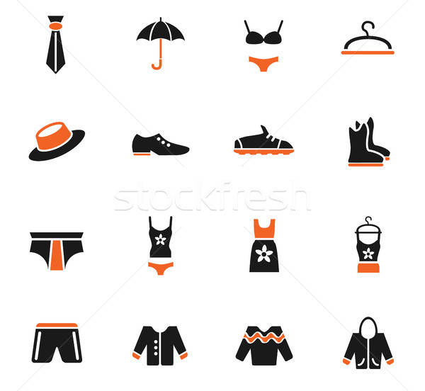 clothes icon set Stock photo © ayaxmr
