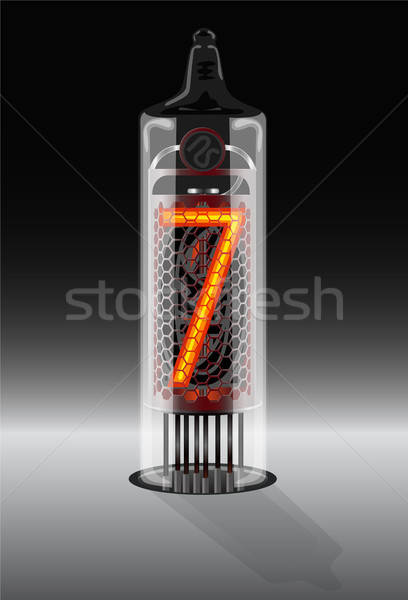 Digits on vintage vacuum tube display Stock photo © ayaxmr
