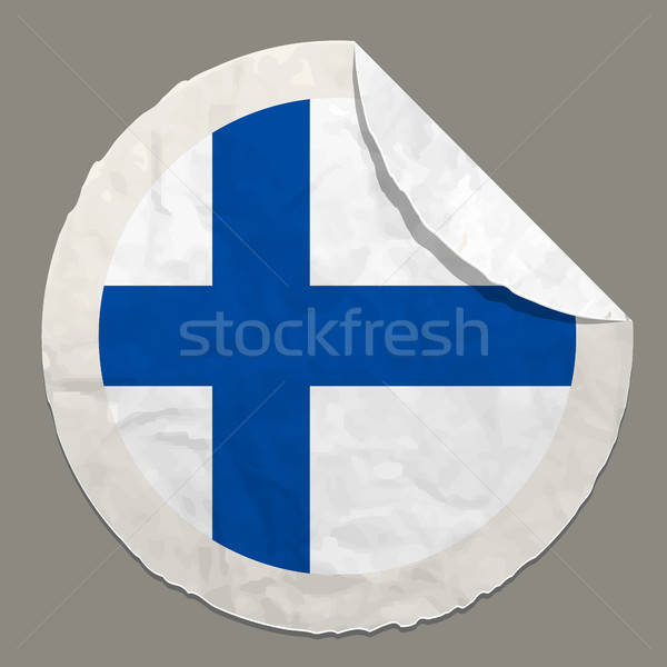Bandeira papel etiqueta símbolo Foto stock © ayaxmr