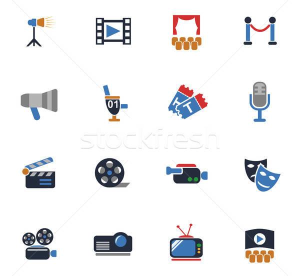 Bioscoop web icons gebruiker interface ontwerp Stockfoto © ayaxmr