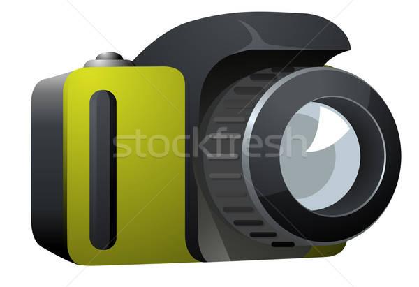 Camera Icon Side View on White Background Stock photo © ayaxmr