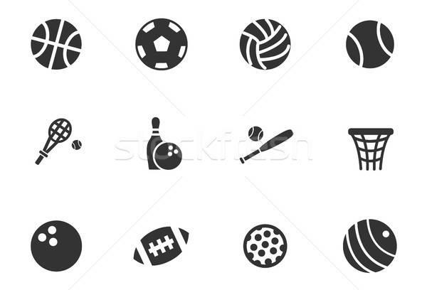 Foto stock: Esportes · os · ícones · do · web · usuário · interface