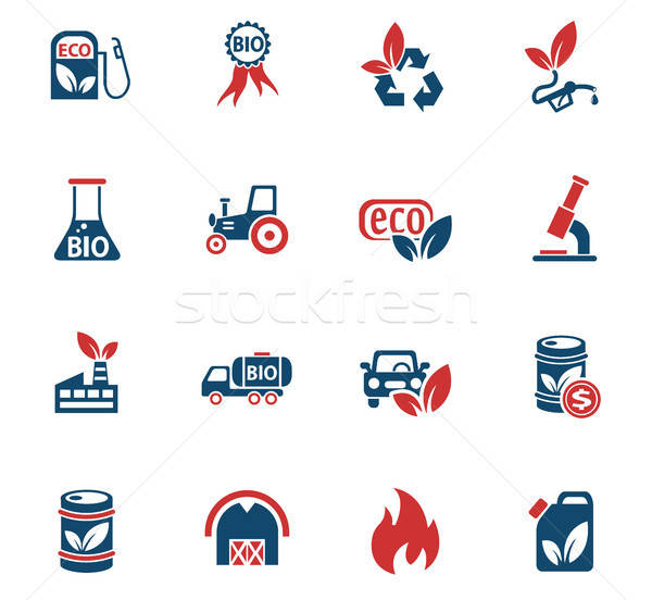 bio fuel icon set Stock photo © ayaxmr