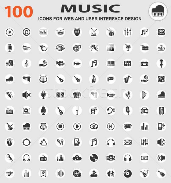music icon set Stock photo © ayaxmr