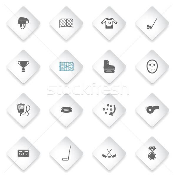 Hóquei simplesmente ícones símbolo os ícones do web usuário Foto stock © ayaxmr