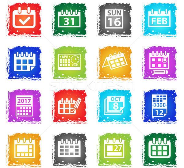カレンダー webアイコン グランジ スタイル ユーザー ストックフォト © ayaxmr