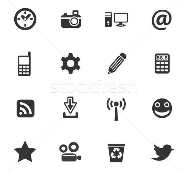 Foto stock: Os · ícones · do · web · usuário · interface · projeto
