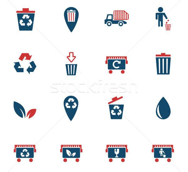 garbage icon set Stock photo © ayaxmr