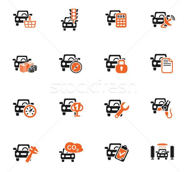 Araba hizmet web simgeleri kullanıcı arayüz Stok fotoğraf © ayaxmr