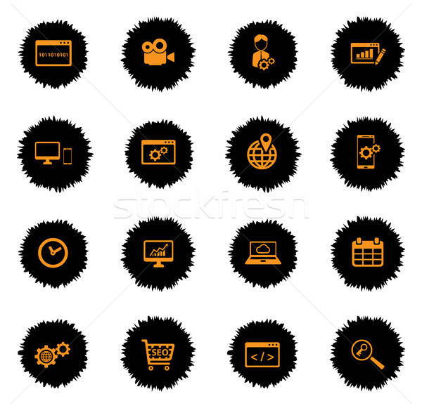 SEO and development simply icons Stock photo © ayaxmr