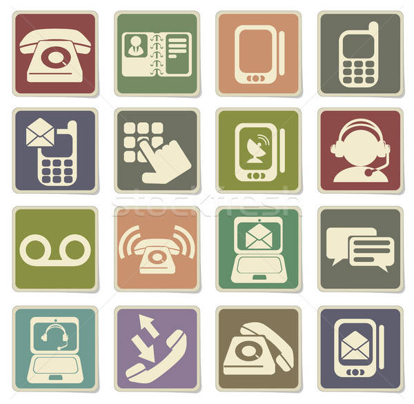 Telefon simgeler vektör web kullanıcı arayüz Stok fotoğraf © ayaxmr