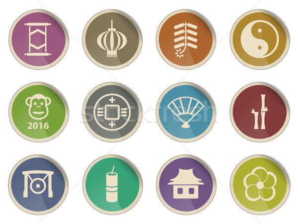 Zdjęcia stock: Chiński · nowy · rok · po · prostu · ikona · etykiety · internetowych · użytkownik