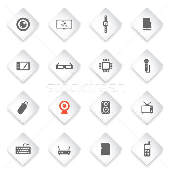 Gadgets simply icons Stock photo © ayaxmr