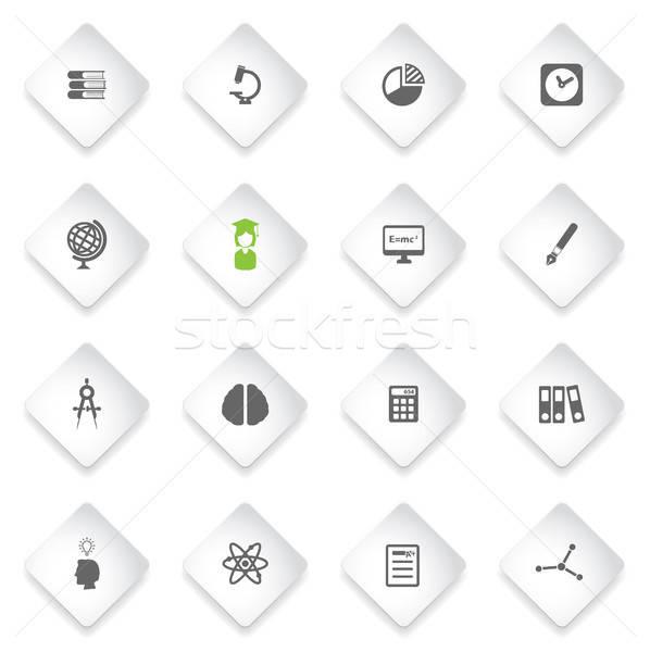 Universidade simplesmente ícones teia usuário interface Foto stock © ayaxmr