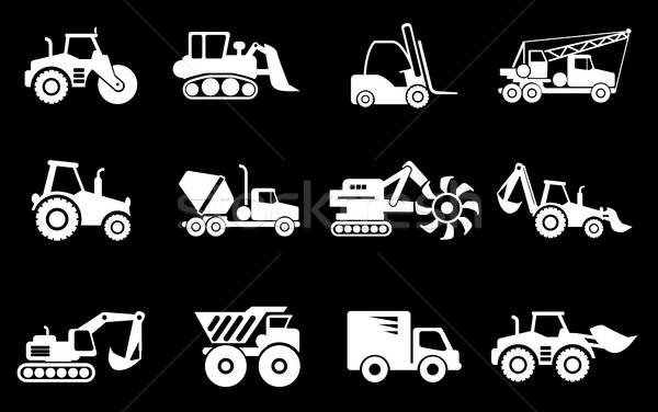 Symbols of Construction Machines Stock photo © ayaxmr