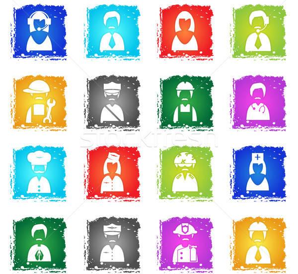 Profissão vetor os ícones do web grunge estilo Foto stock © ayaxmr