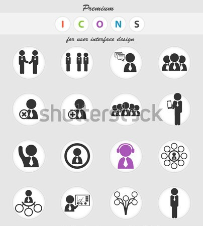 Gemeenschap eenvoudig iconen web gebruiker Stockfoto © ayaxmr