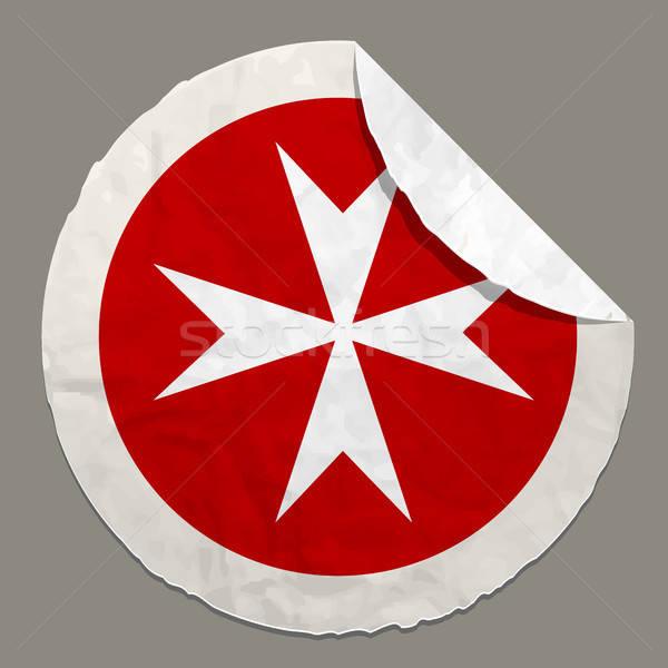 Esercito bandiera carta etichetta simbolo Foto d'archivio © ayaxmr