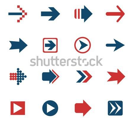 Seta os ícones do web usuário interface projeto Foto stock © ayaxmr