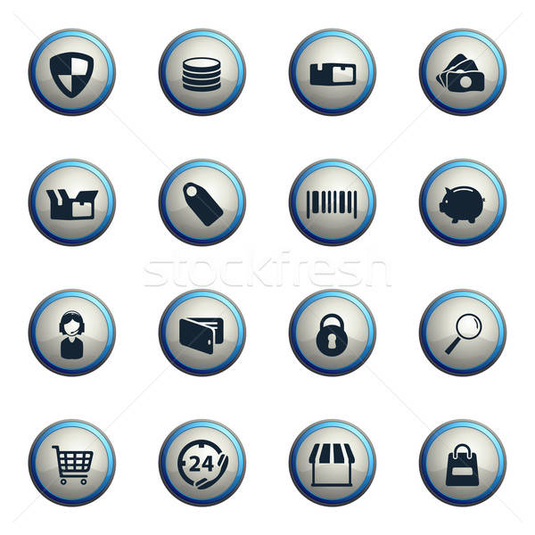 E-commerce simply icons Stock photo © ayaxmr